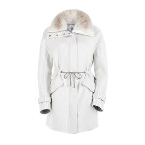 Ogier Arya baby cashmere coat White
