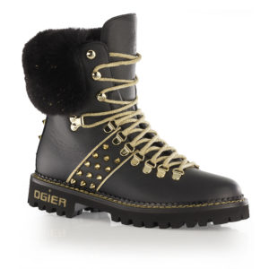 Ogier Garmisch Black/Gold Bottine Black Gold