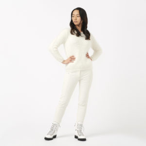 Ogier Gstaad Angora Cashmere Sweater Off White