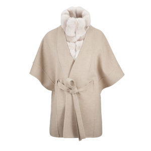 Highlands Poncho Beige