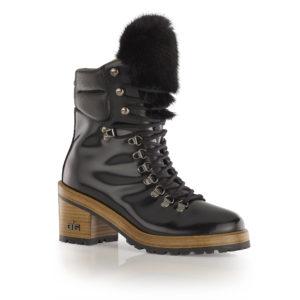 Ogier Kiev Mink Ankle Boots Mink Black