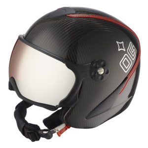 Ogier Kitzbuhel Carbon Red Helmet Red