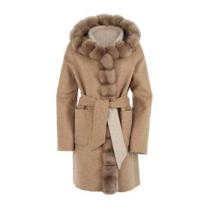 Ogier Reversible Coat Cashmere Zibeline Beige