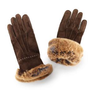 Ogier Vokouta Couture Gloves Brown